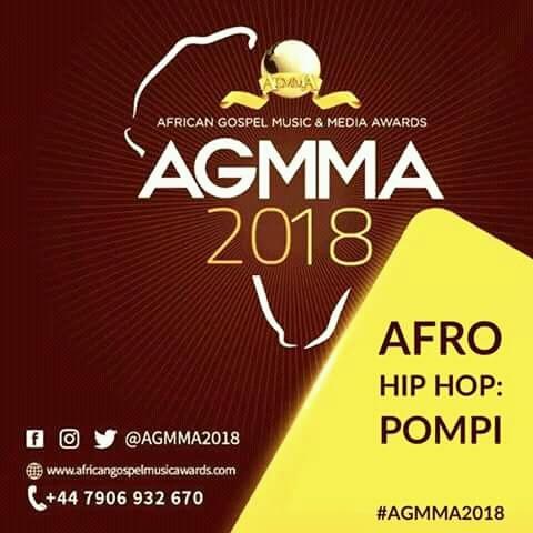 AGMMA 2018 Awards Pompi Afro Hip hop